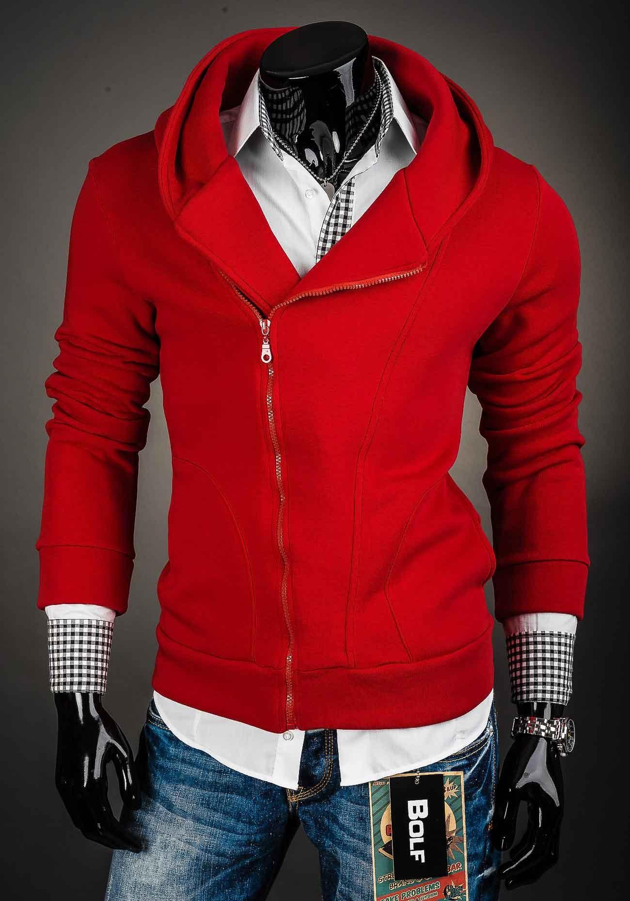 620f9e8f342 Pánská mikina červené s kapucí - kvalitní oblečení - kosile-kvalitni.cz