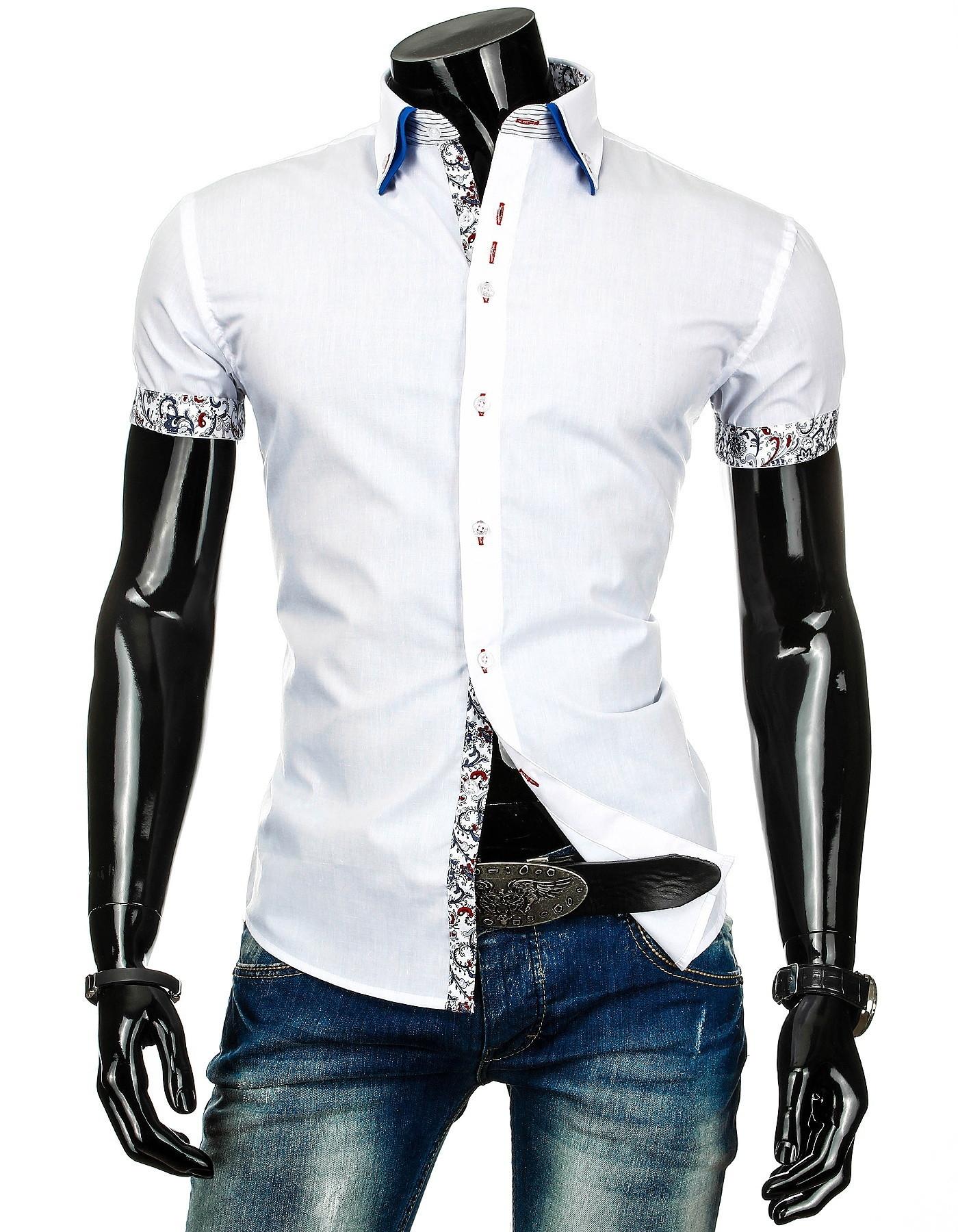 Pánská košile BOSTON s krátkým rukávem bílá