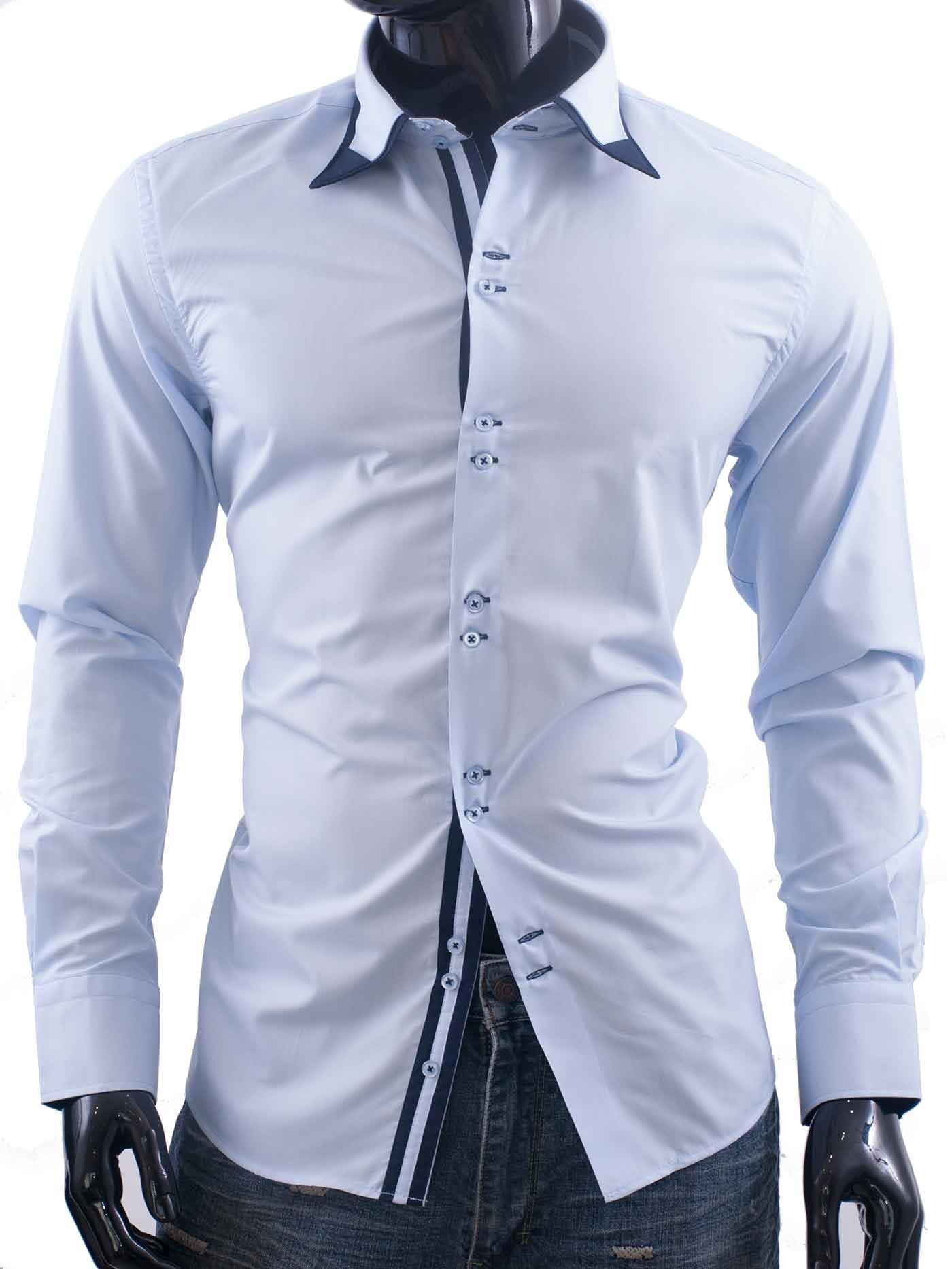 Pánská košile Ego-Man světle modrá
