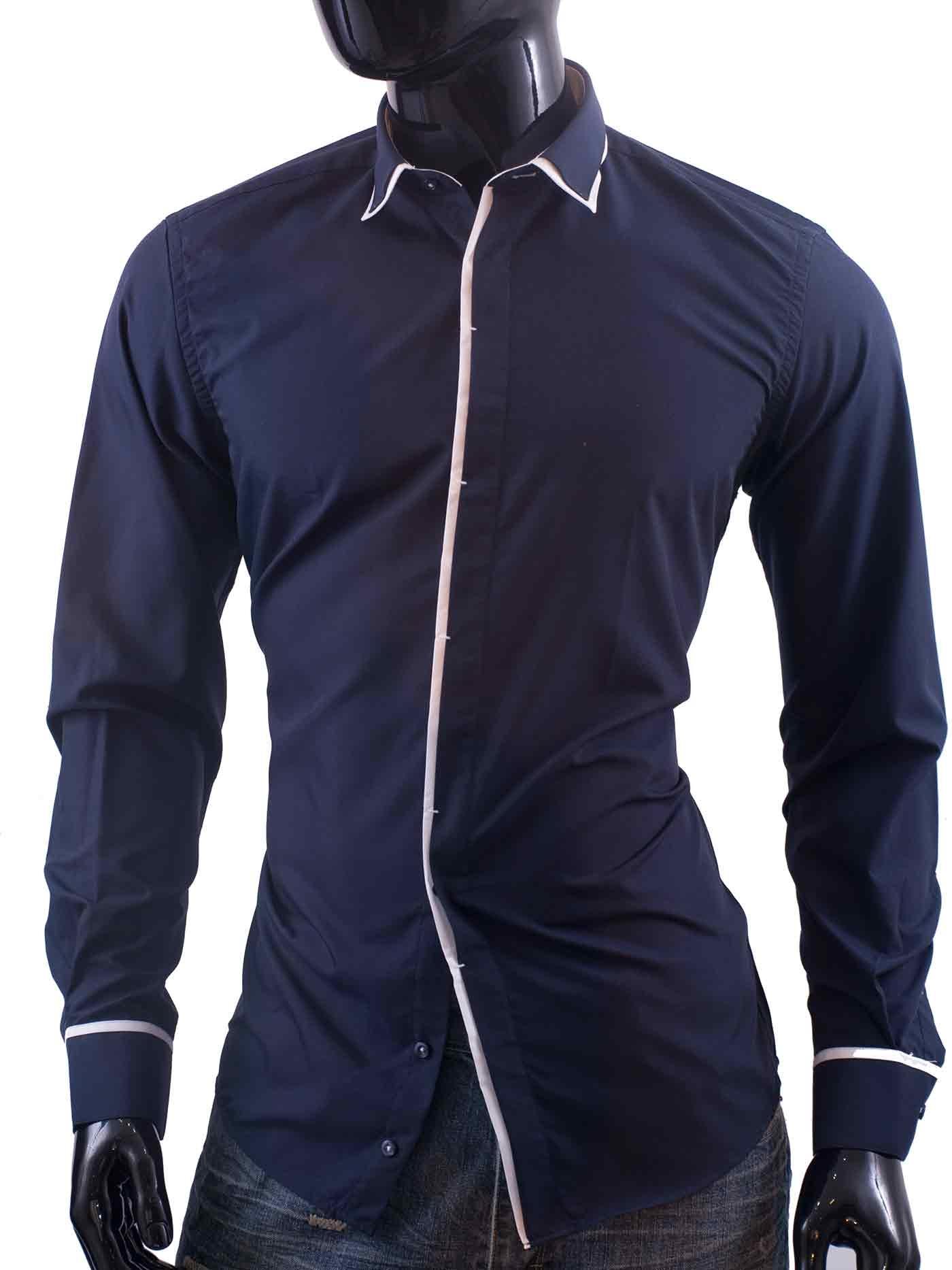 Pánská košile Moonstar námořnická modř