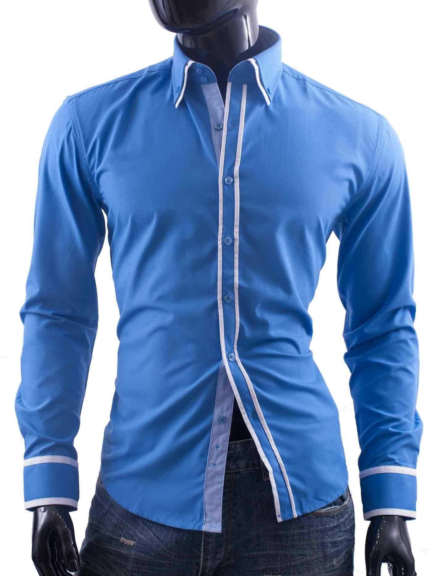 Pánská košile BOSTON modrá