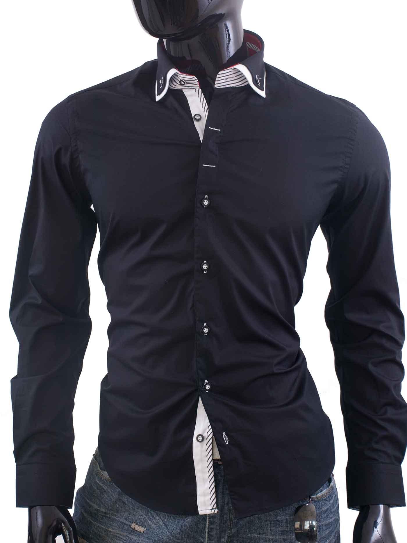 Exklusivní pánská košile Bragga Hill černá