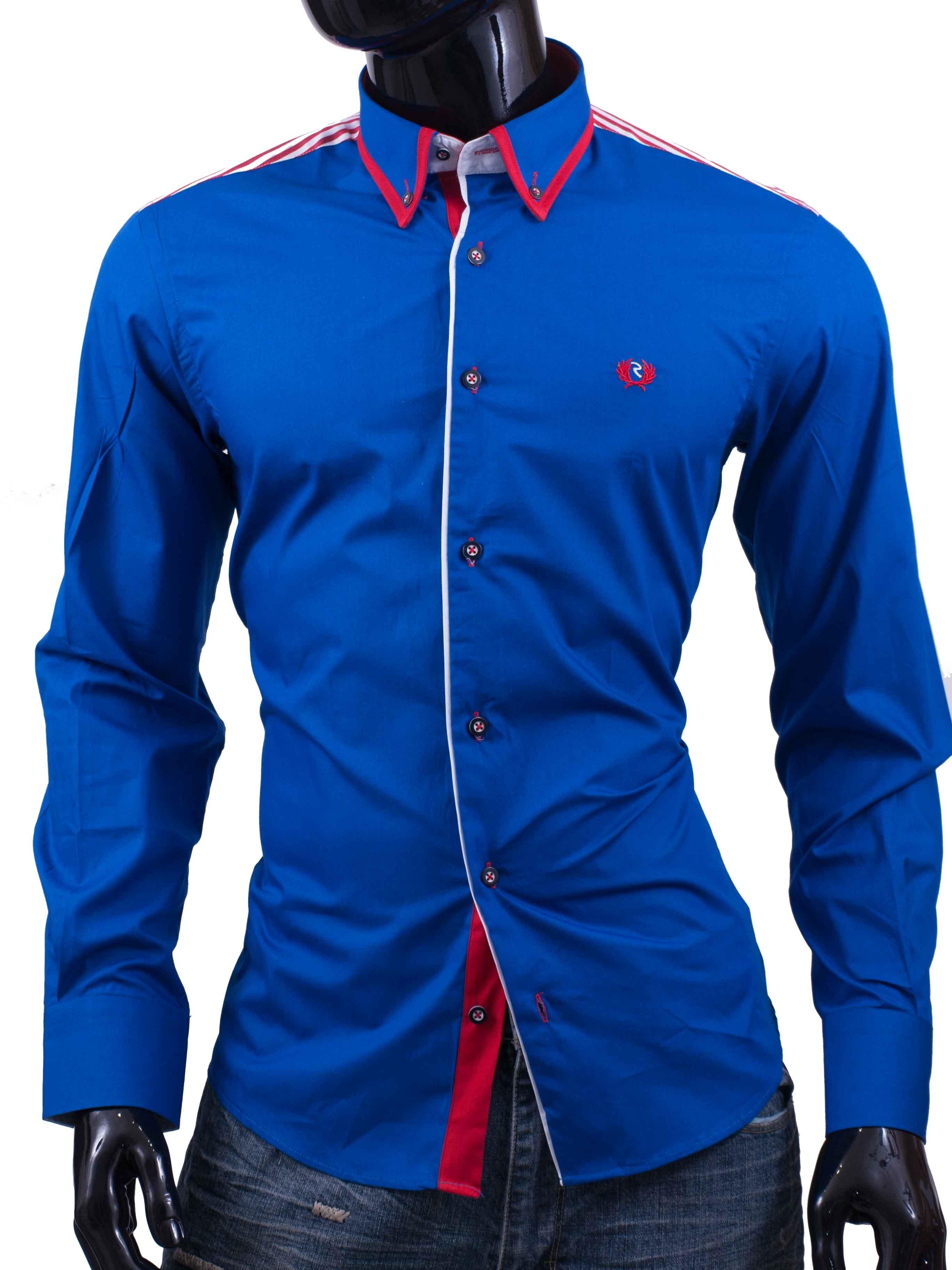 Pánská košile Rocca Valdana modrá