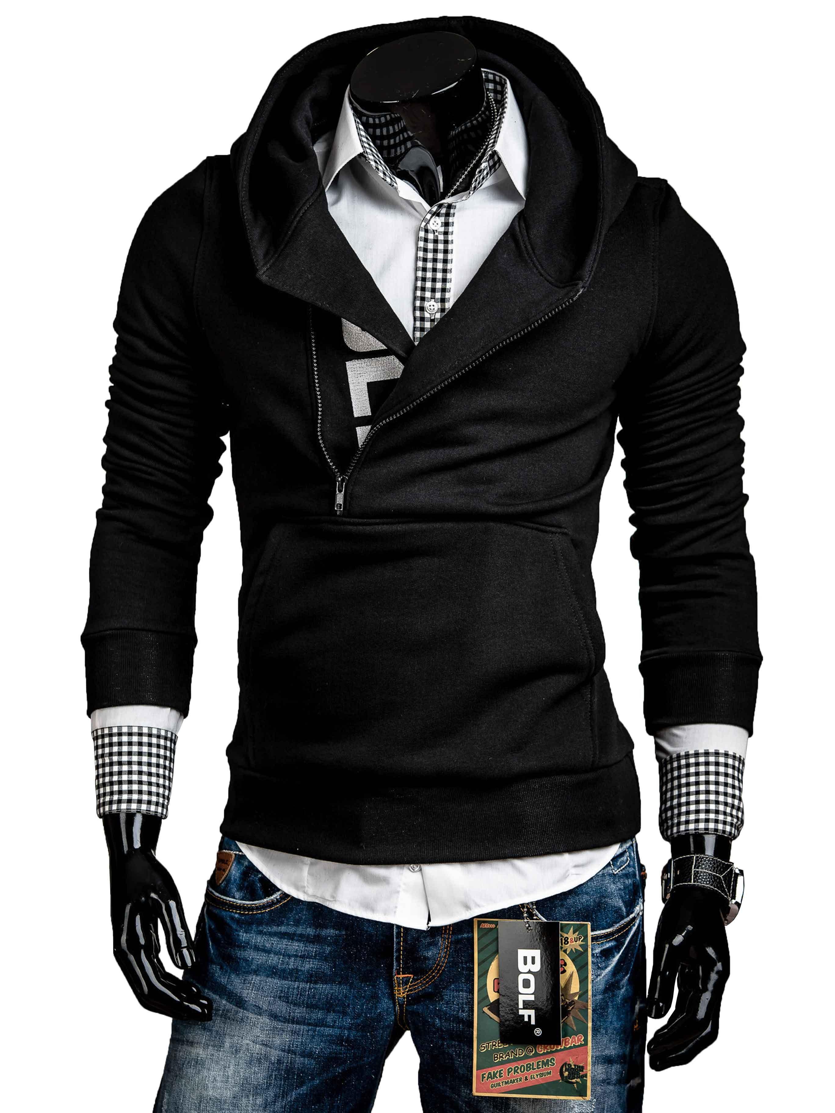 Pánská mikina černá s kapucí