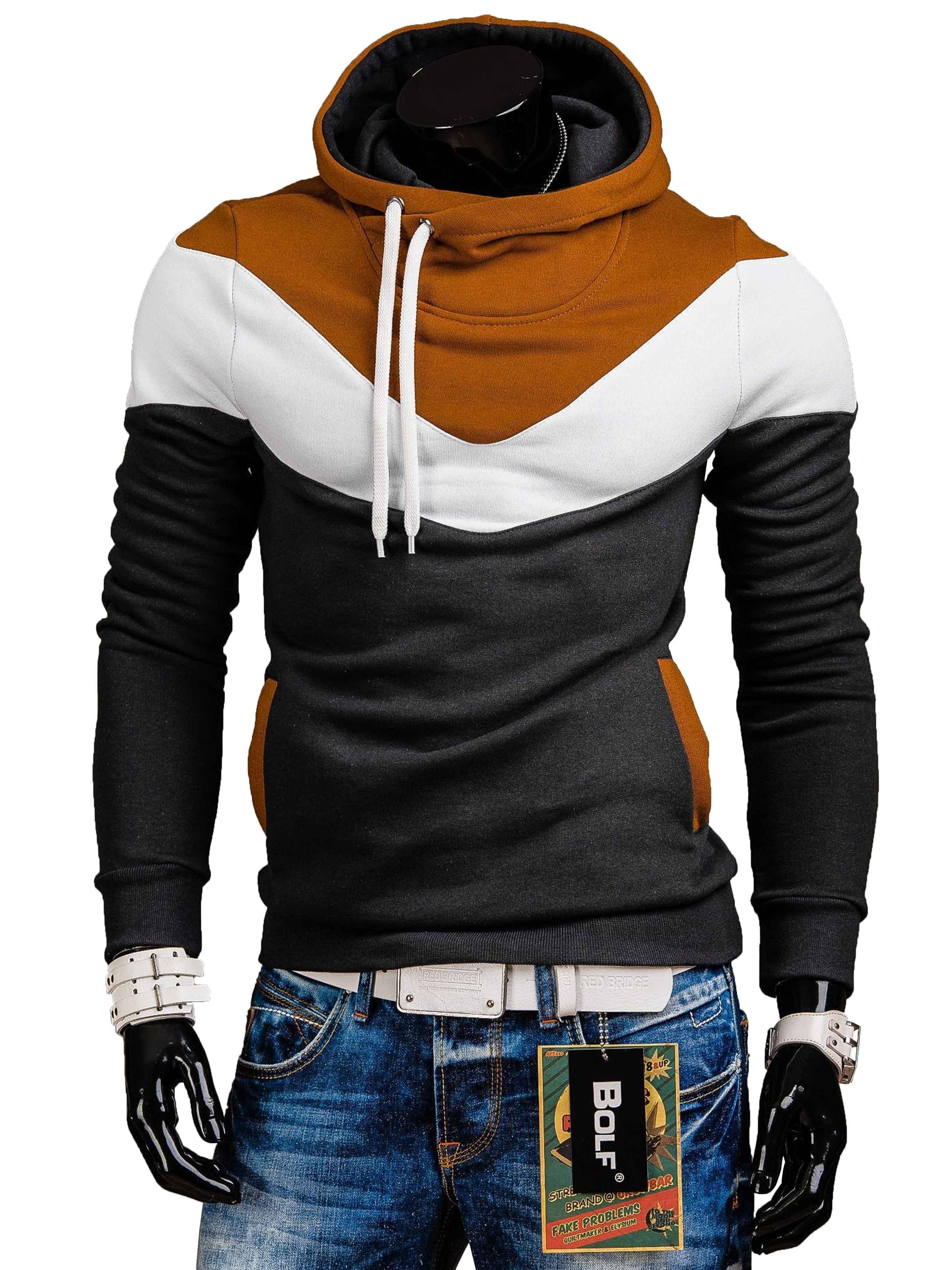 Pánská mikina s kombinací tří barev graffitová - kvalitní oblečení ... 4c59ce82ec